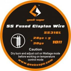 GeekVape SS316L Fused Clapton 2x28AWG + 30AWG